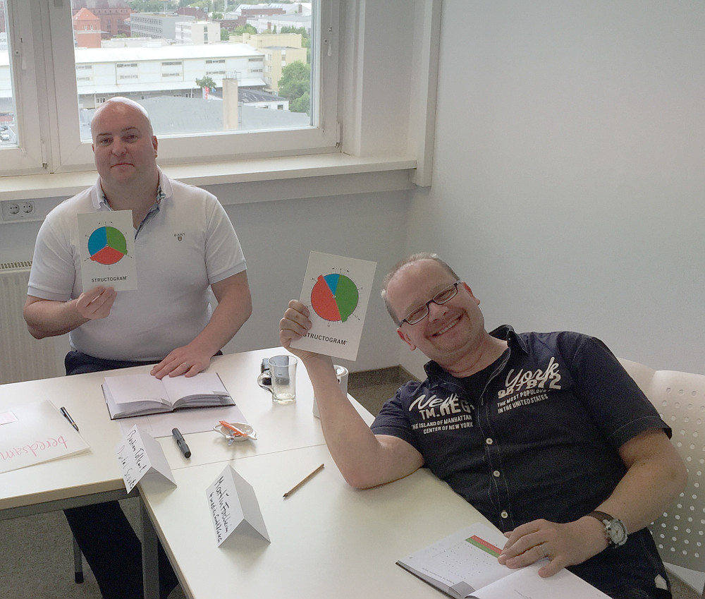 Bild: 2 Teilnehmer aus dem Structogram-Training des smart seller Programms