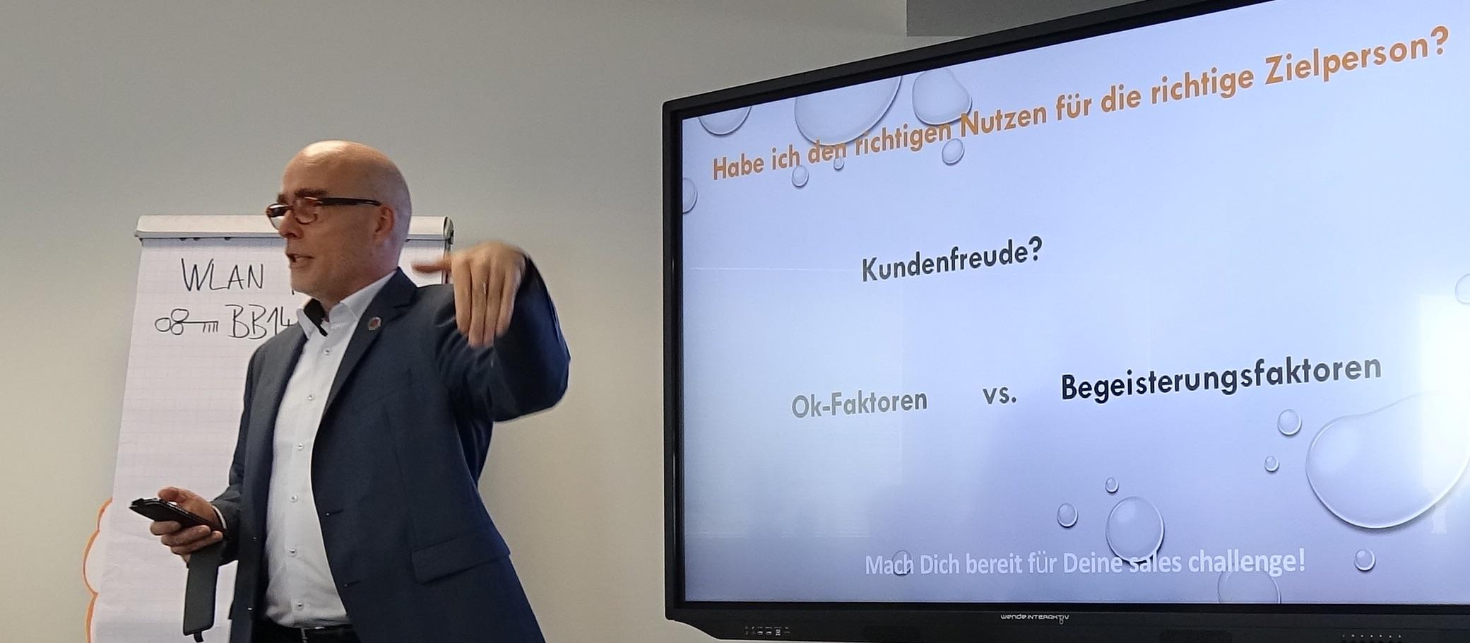 """Vortrag Selling für Unternehmer """"Nutzen der Produkte"""""""